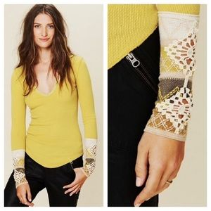 Free People Mustard Kombucha Cuff Thermal